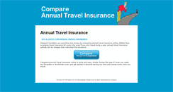 Preview of compareannualtravelinsurance.co.uk