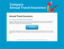 Tablet Preview of compareannualtravelinsurance.co.uk